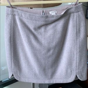 Grey wool mini skirt, J.Crew, size 4